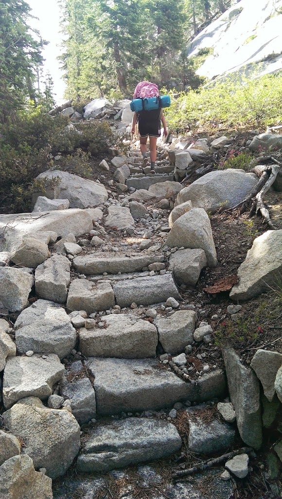 Rocky stairway